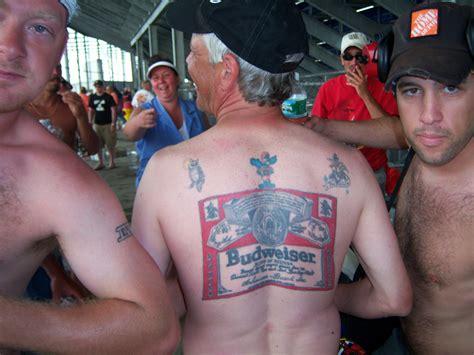 budweiser tattoo budweiser brand inspired on back tattoomagz