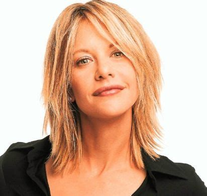 extreme medium choppy hair medium hair meg ryan with extreme layers and long side bangs