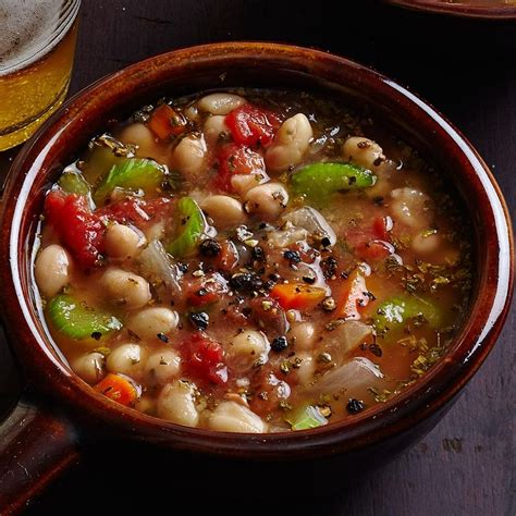 Mediterranean Home by White Bean Soup Fassoulatha Recipe Eatingwell