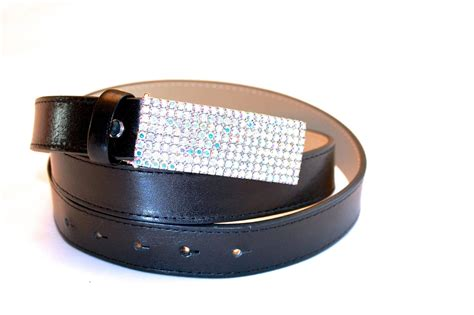 Multi Tonal Chilli Belt At Sportsgirl by Black Leather Belt With Multi Tone Crystals Buckle