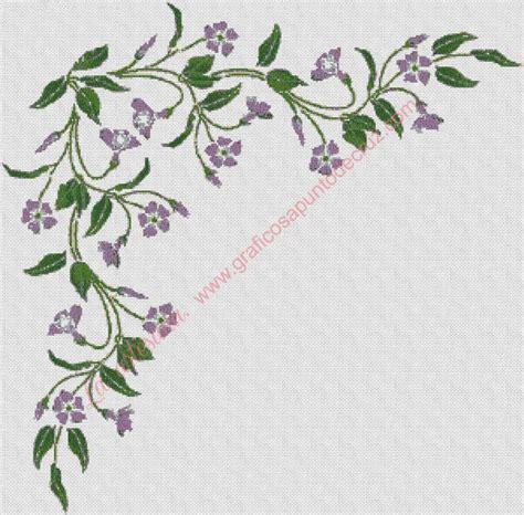 cenefas de flores cenefas de flores de punto en of punto gratis