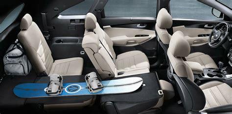 kia sorento 2017 leather seats 2018 kia sorento interior seating space and fabric options