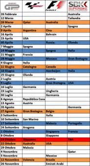 Motogp Schedule Motogp Motogp F1 And Sbk The War Of The Calendars