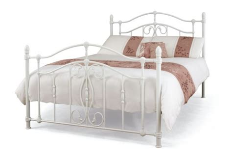 metal bed frames double serene nice 4ft6 double white metal bed frame by serene furnishings