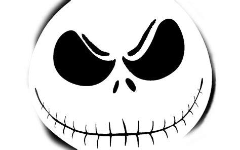 jack skellington head drawings dark brown hairs