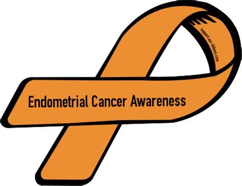 uterine cancer color custom ribbon endometrial cancer awareness