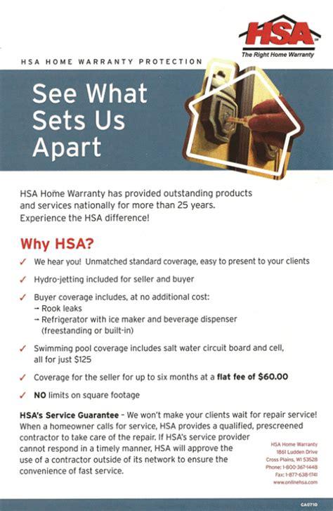 hsa home warranty login
