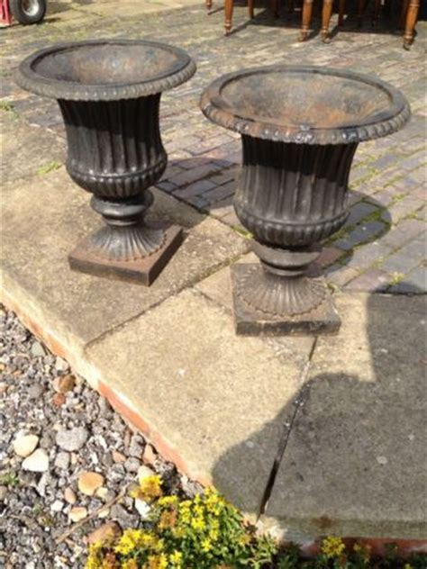Cast Iron Urn Planters For Sale by Cast Iron Urns For Sale Pair Of Cast Iron Urns