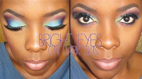 eyeshadow tutorial dark skin bright eyeshadow on dark skin tutorial tamekans youtube