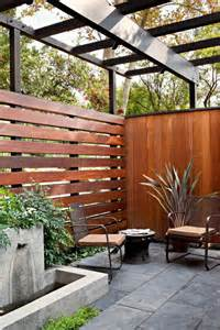 backyard privacy wall 16 extraordinary mid century modern patio designs you ll