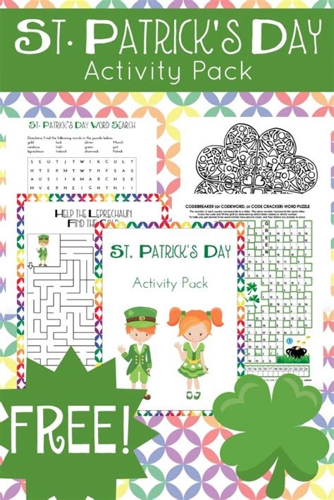 st s day printable and activities for free st s day activity pack suits ages free homeschool deals