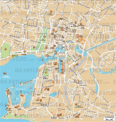 map of la rochelle geoatlas city maps la rochelle map city illustrator