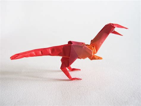 How To Make An Origami Velociraptor - origami velociraptor