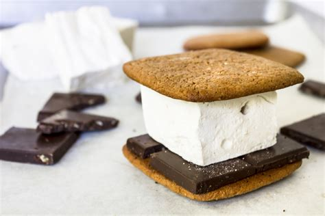 best marshmallows for s mores chocolate graham cracker s mores recipe dishmaps