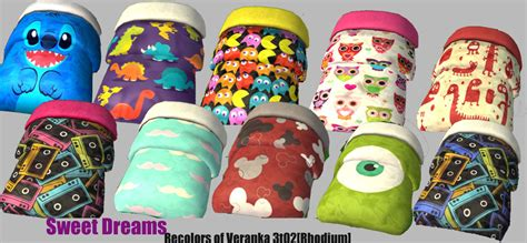 mod  sims bold bed blankets