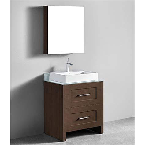Porcelain Bathroom Vanity by Madeli Retro 30 Quot Bathroom Vanity For Glass Counter And Porcelain Basin Walnut Free Shipping