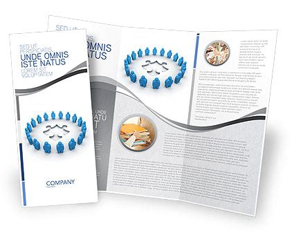 circle brochure template design and layout download now