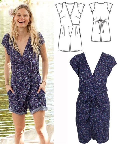 short sleeve jumpsuit 03 2015 115b sewing patterns 17 b 228 sta id 233 er om jumpsuit pattern p 229 pinterest patrones