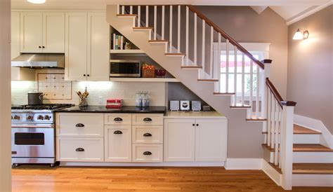Inter Stairs And Kitchen Design A Second Floor Addition With New Staircase And Integrated Kitchen Nott Associates