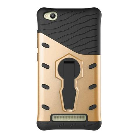 Casecasing Though Armor For Xiaomi Redmi 4a Free Tempered Glass armour series rotating bracket for xiaomi redmi 4a gold