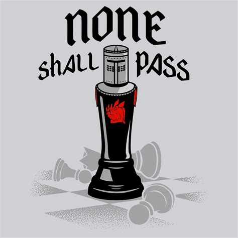none shall pass black t shirt snorgtees
