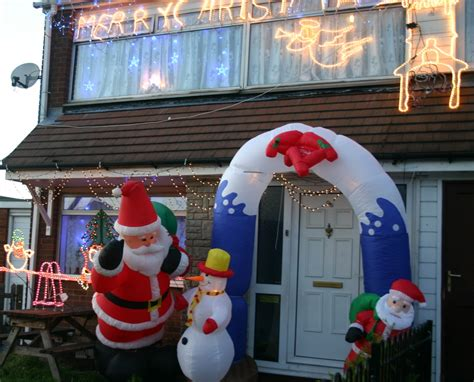 awe inspiring outdoor christmas decoration showcasing