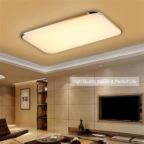 Kitchen Overhead Lighting 48w Flush Mount Led Pendant Light Ceiling L Bedroom Gold Remote Us Ebay