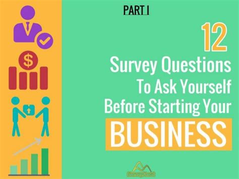 10 Questions To Ask Yourself Before Starting A Business by 12 Survey Questions To Ask Yourself Before Starting Your