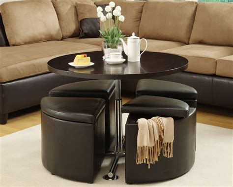 furniture luxury coffee table with stools for living room