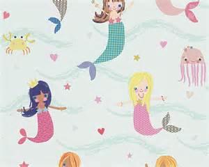 Cat Wall Murals kids wallpaper mermaid boys amp girls white 30569 1