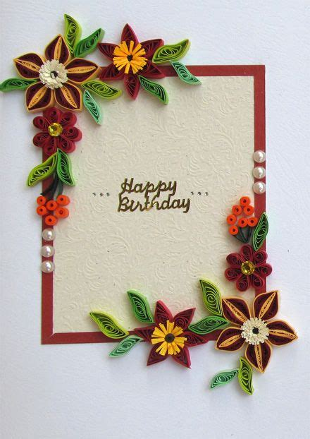 17 best images about quilled birthday cards on 60th birthday cards flower birthday
