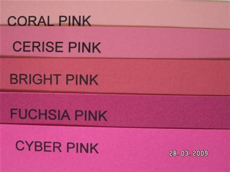 all shades of pink paperchain