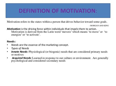 Consumer Motivation Mba by Marketers Motivation In Consumer Behaviour