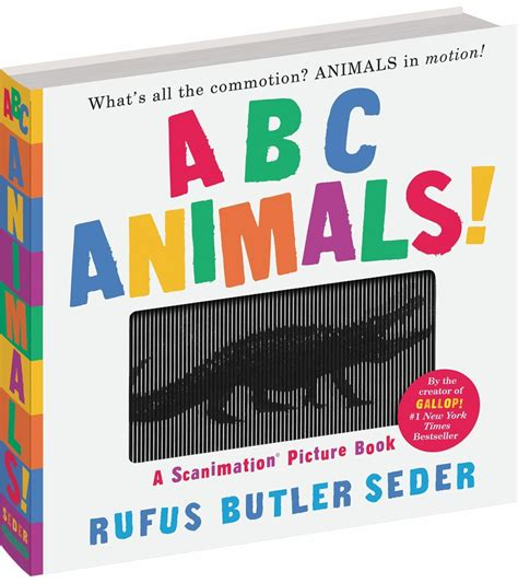 scanimation picture book abc animals a scanimation picture book