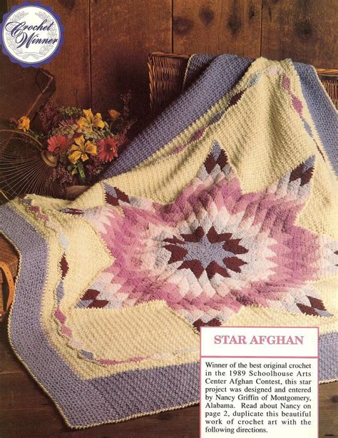 quilt pattern crochet afghan prize winning star quilt afghan crochet pattern htf afghans