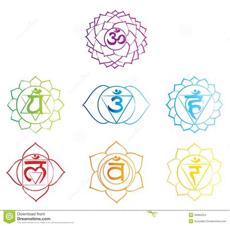 chakras symbols sketch stock images image 30084234