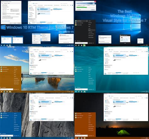 windows 10 theme download for windows 7 32 bit windows 10 rtm theme for windows 7