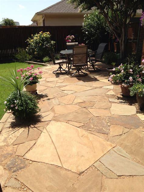 flagstone and decomposed granite patio gardens