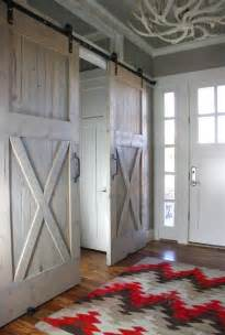 sliding barn doors used inside content in a cottage
