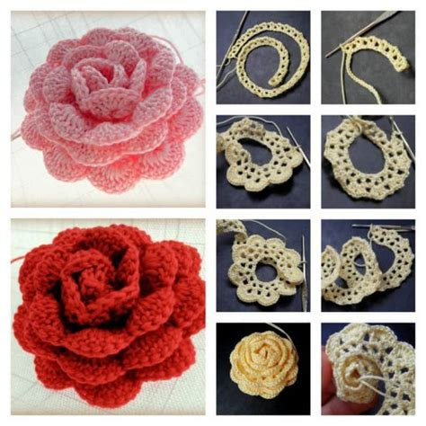 free pattern rose crochet 3d crochet roses pattern easy video tutorial the whoot
