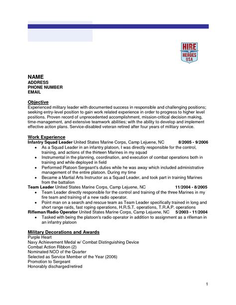 Infantry Resume by Infantry Resume Free Excel Templates