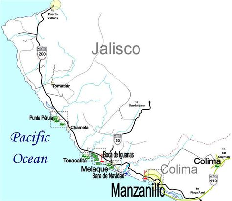jalisco mexico map jalisco coastal map rv parks and cing mexico