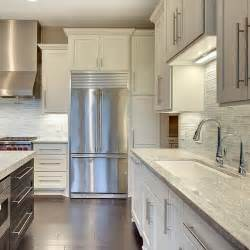 Crown Molding For Kitchen Cabinet Tops White Shaker Cabinets With Traditional Crown Molding Our New House White