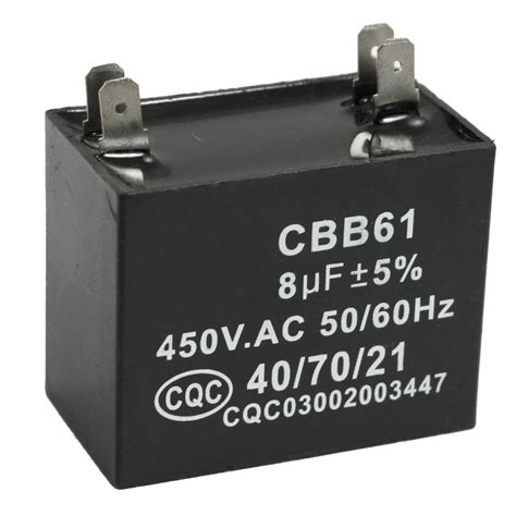 capacitor run asynchronous motor for air conditioner fan cbb61 8uf 450v ac 50 60hz air conditioner fan motor running capacitor dt ebay