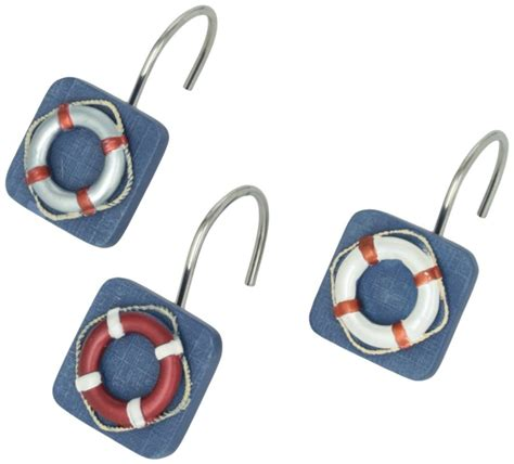 anchor shower curtain hooks life preserver nautical shower curtain hooks whyrll com