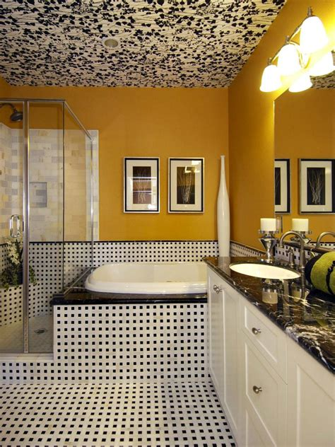 bright yellow bathroom yellow bathrooms 7 bright ideas hgtv