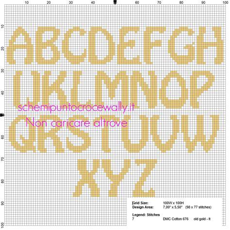 nomi con 4 lettere alfabeto maiuscolo punto croce per i nomi con i minions