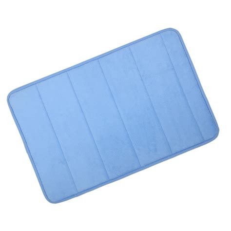Memory Foam Rugs For Bathroom Azure Microfibre Memory Foam Bath Mat Washable Bathroom Rug Non Slip 40x60cm Ebay