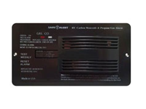 black rv carbon monoxide/lp gas alarm