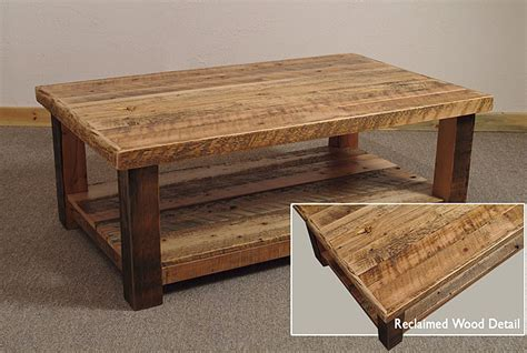 Easy Woodworking Projects Coffee Table by Reclaimed Barn Wood Rustic Big Timber Coffee Table